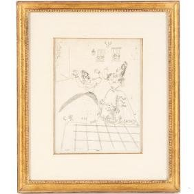 Marc Chagall, etching
