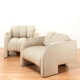 Pair Vladimir Kagan lounge chairs