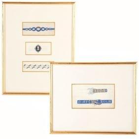 American School, Jewelry design sketches