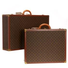 Group Louis Vuitton Monogram hard-sided suitcases