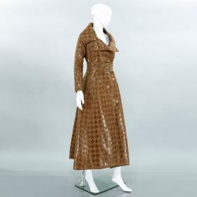 Richard Tyler Couture tweed maxi coat