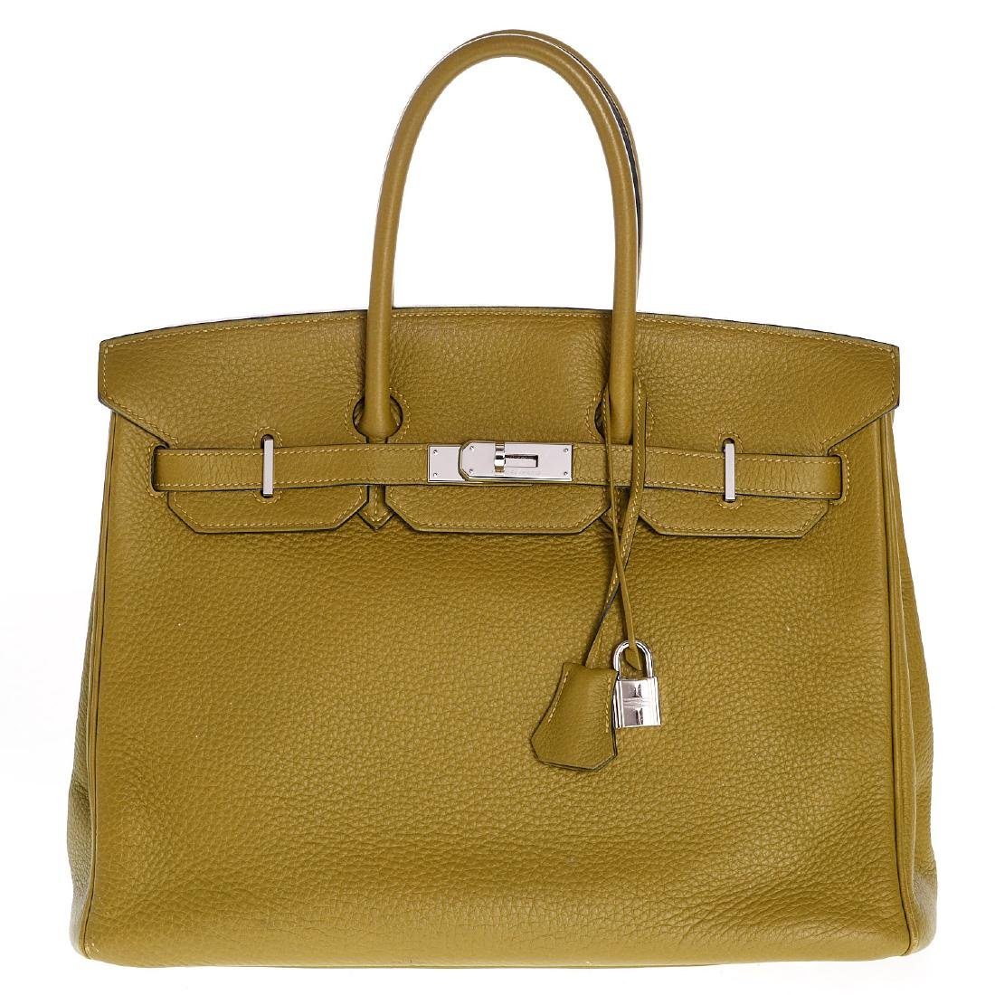 Hermes Birkin 35 Sauge Clemence handbag