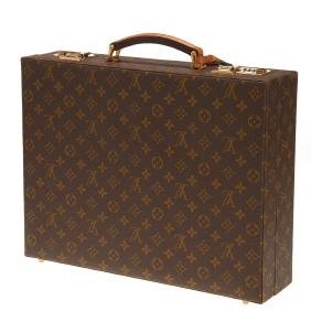 Louis Vuitton Monogram combination lock briefcase