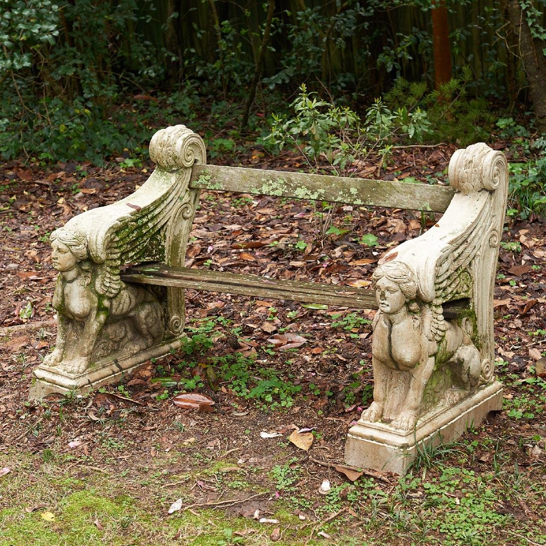 Victorian glazed stoneware garden bench