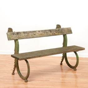 European cast iron Dragon garden bench