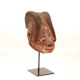 Yoruba Gelede carved wood tribal mask