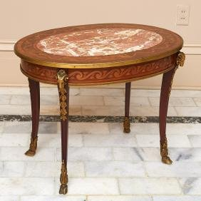 Louis XV style bronze mounted low table