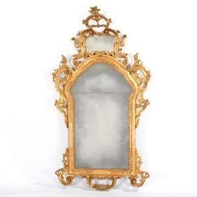 Nice old Italian Rococo style giltwood mirror