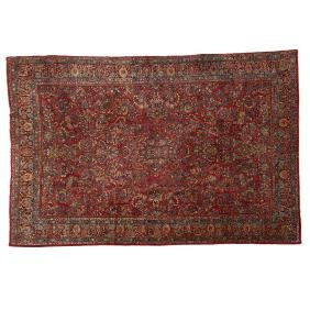 Room-size Sarouk carpet