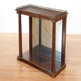Empire mahogany brass mounted pier table