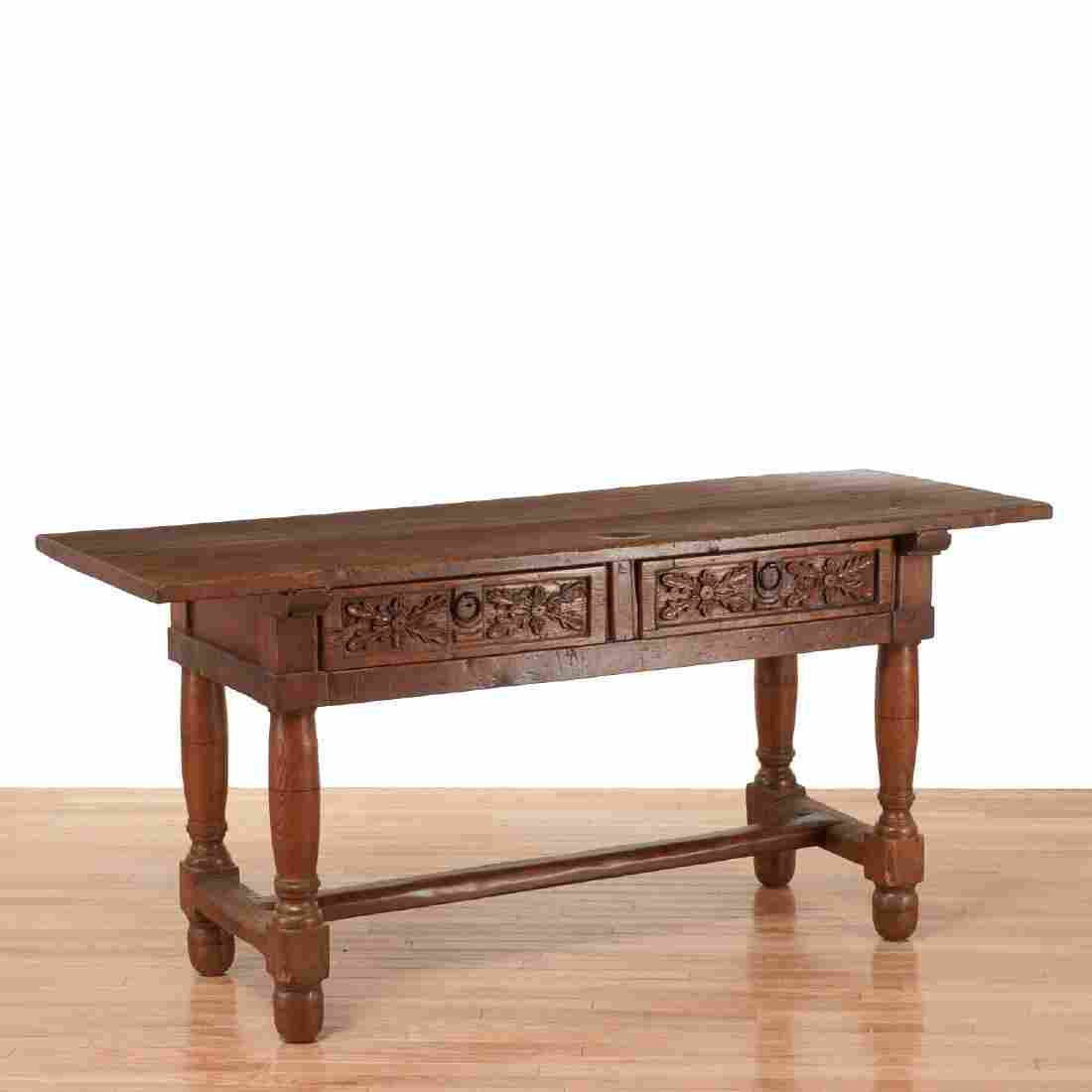 Continental Baroque carved refectory table