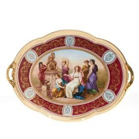 Royal Vienna painted porcelain tray