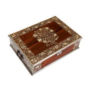 Nice Anglo-Indian inlaid hardwood box