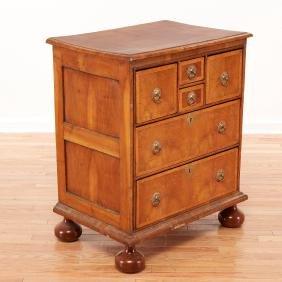 William & Mary inlaid walnut chest of drawers