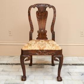 Nice George II walnut, beechwood side chair
