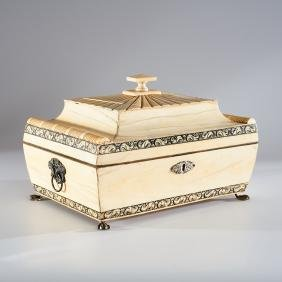 An Anglo-Indian engraved writing box