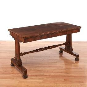 William IV carved library table