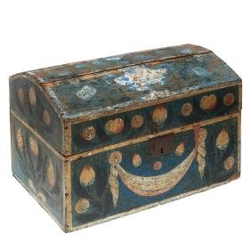 Pennsylvania painted dome top trunk