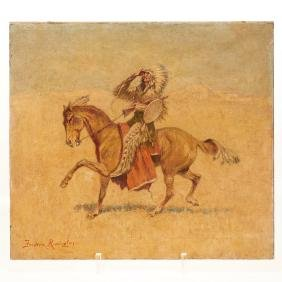 Circle of Frederic Remington, painting