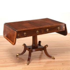 Regency brass inlaid sofa table