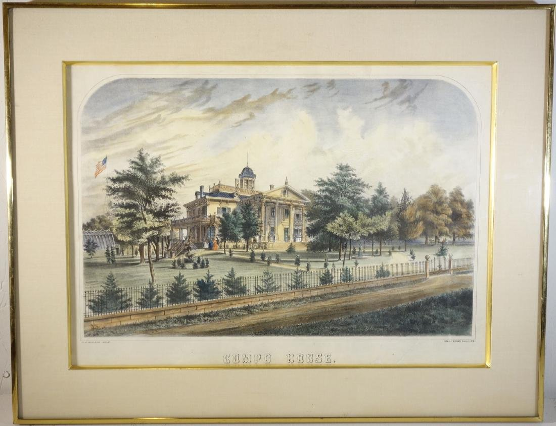 Thomas Bonar, New England color lithograph