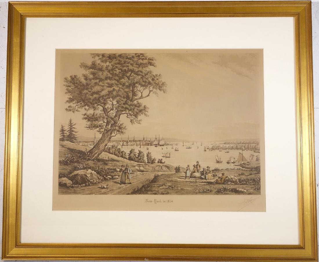 Raoul Varin, New York signed engraving