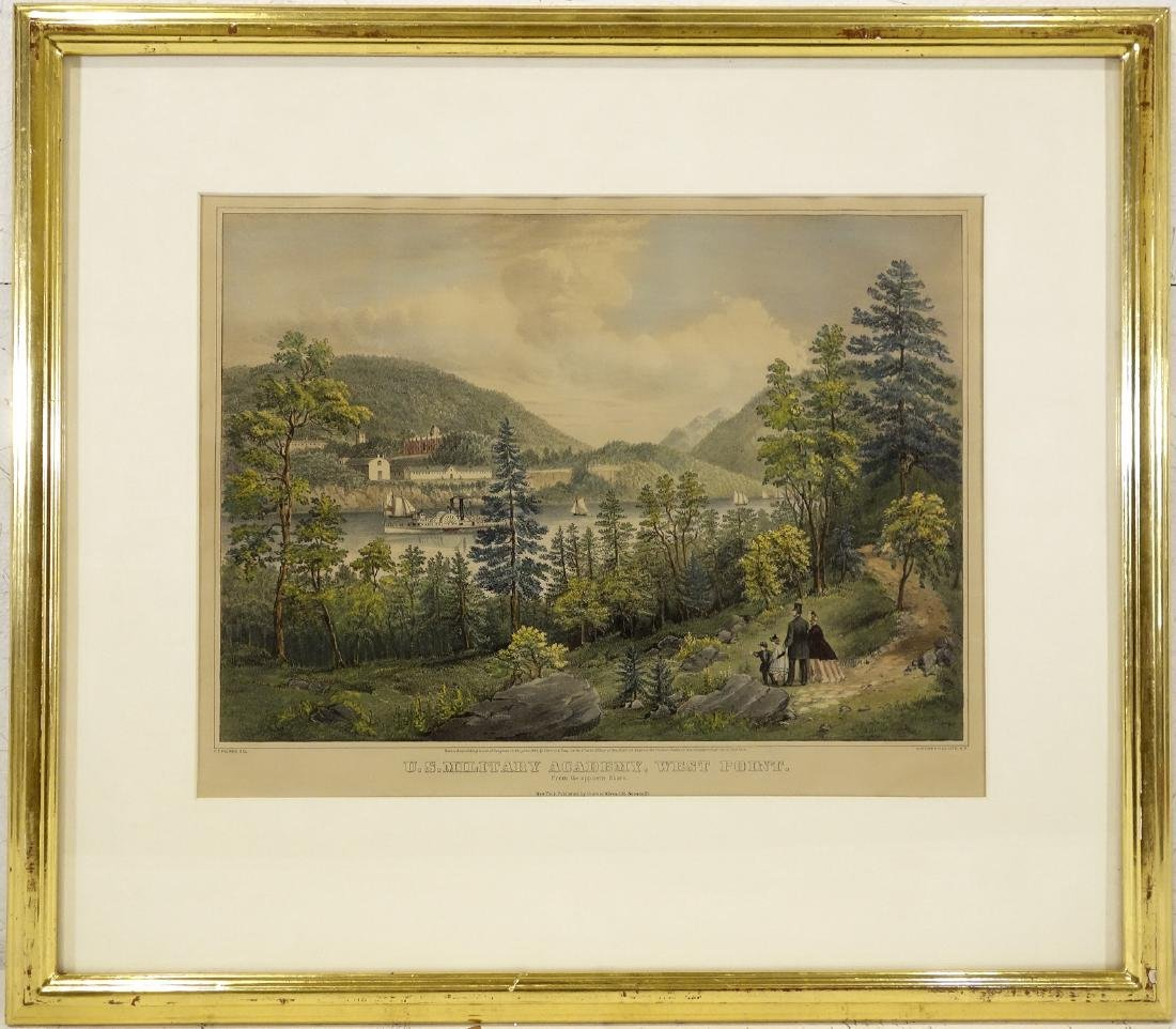 Currier & Ives, West Point color lithograph