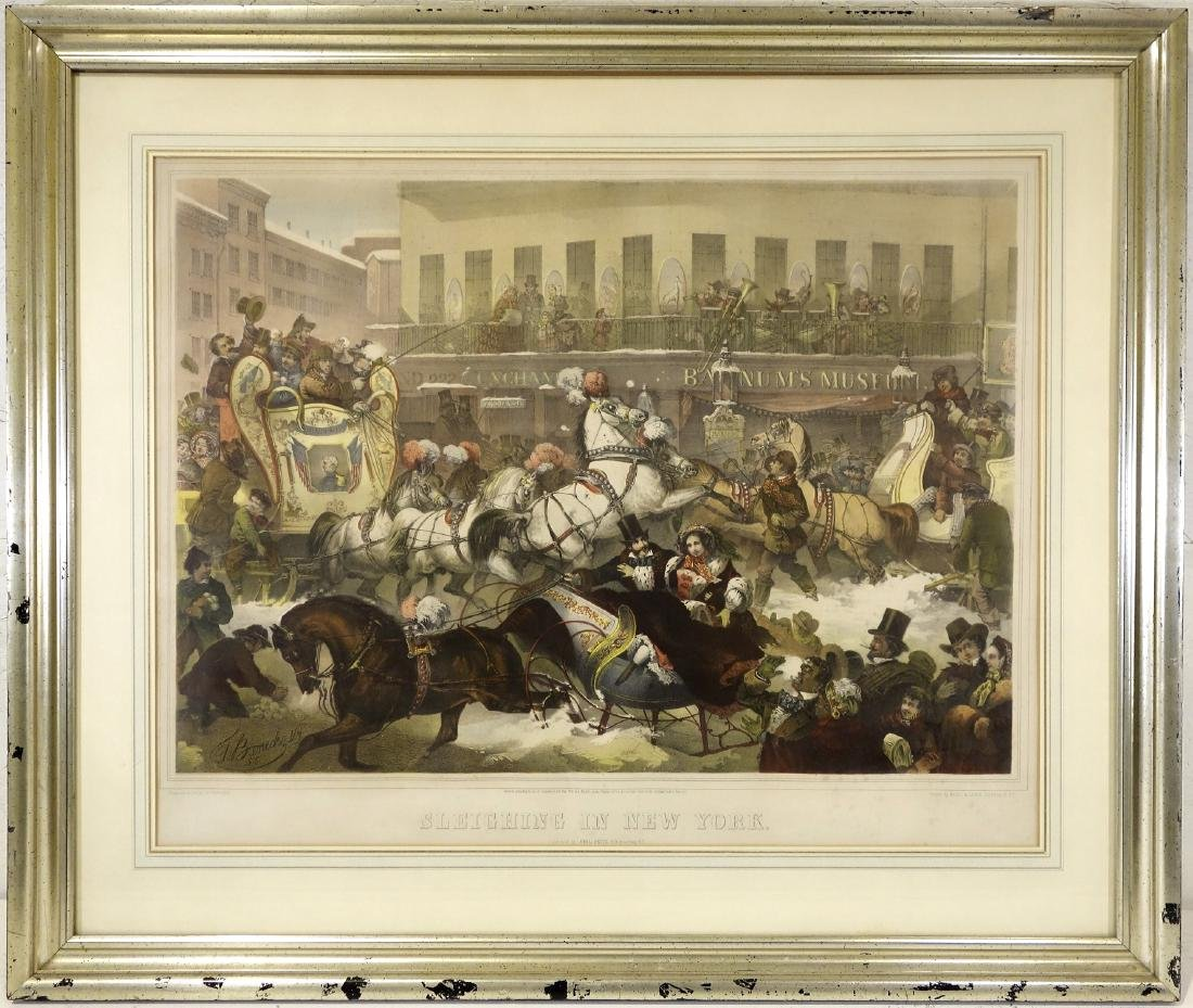 Thomas Benecke, New York scene color lithograph
