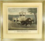 Currier  Ives derby color lithograph