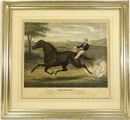 Currier  Ives trotter color lithograph