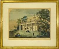 Currier & Ives, Mt. Vernon colored lithograph