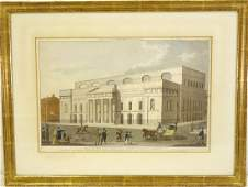 Laurie  Whittle Covent Gardens color engraving