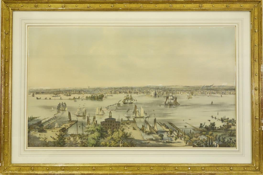 B.F. Smith, Philadelphia harbor color lithograph
