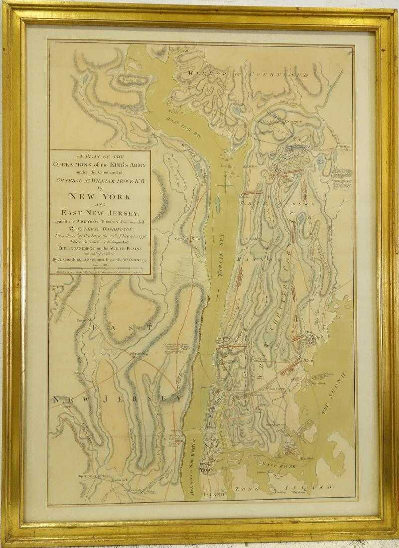 Revolutionary War Map Of New York.William Faden Rare Revolutionary War Map Of Ny
