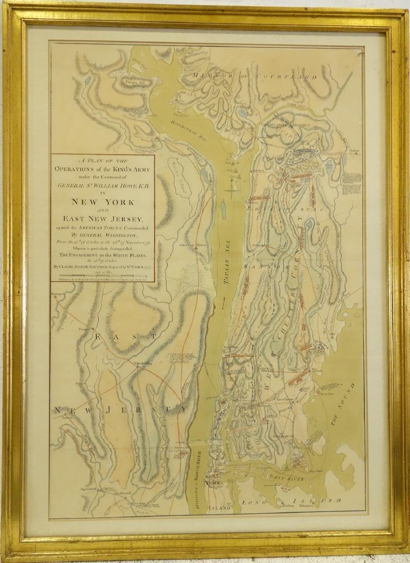 Map Of New York Revolutionary War.William Faden Rare Revolutionary War Map Of Ny