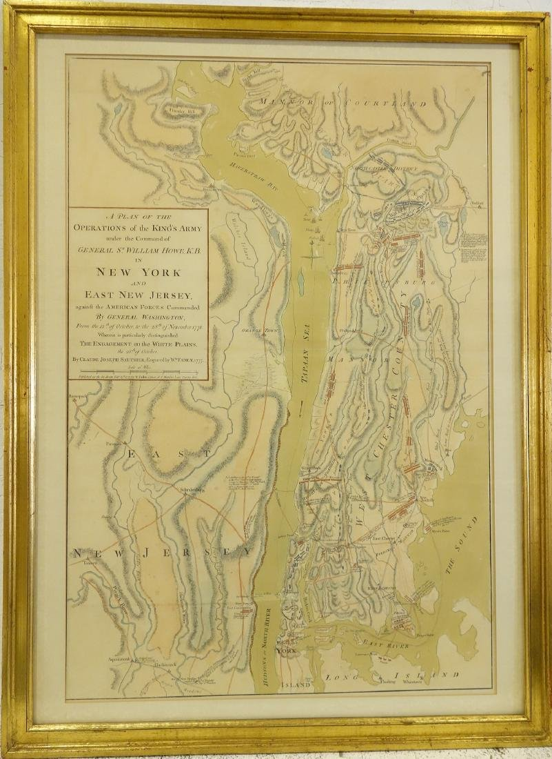 William Faden, rare Revolutionary War Map of NY