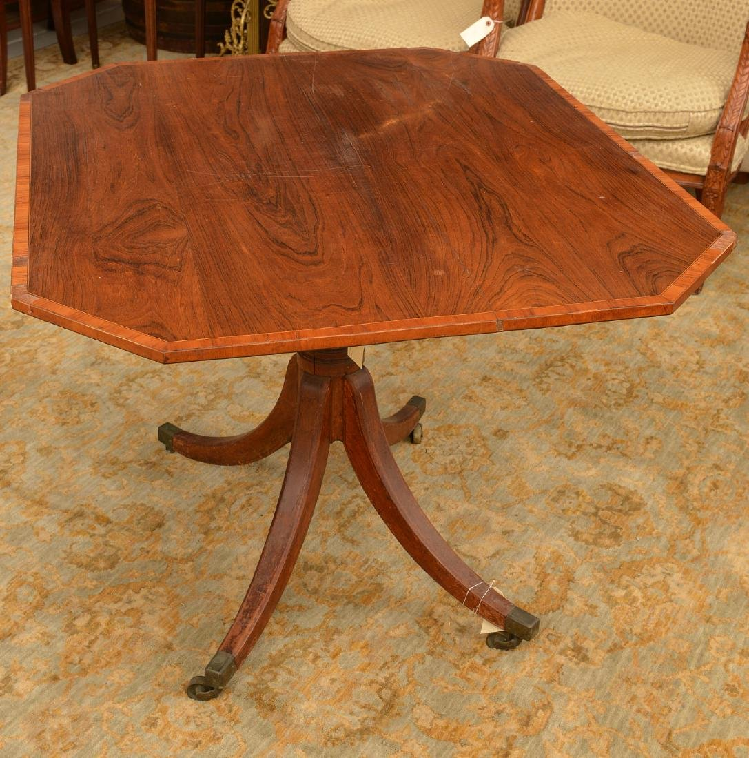 Regency satinwood banded tilt-top breakfast table