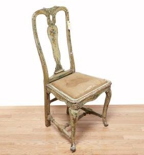 Venetian Rococo Paint Decorated Side Chair