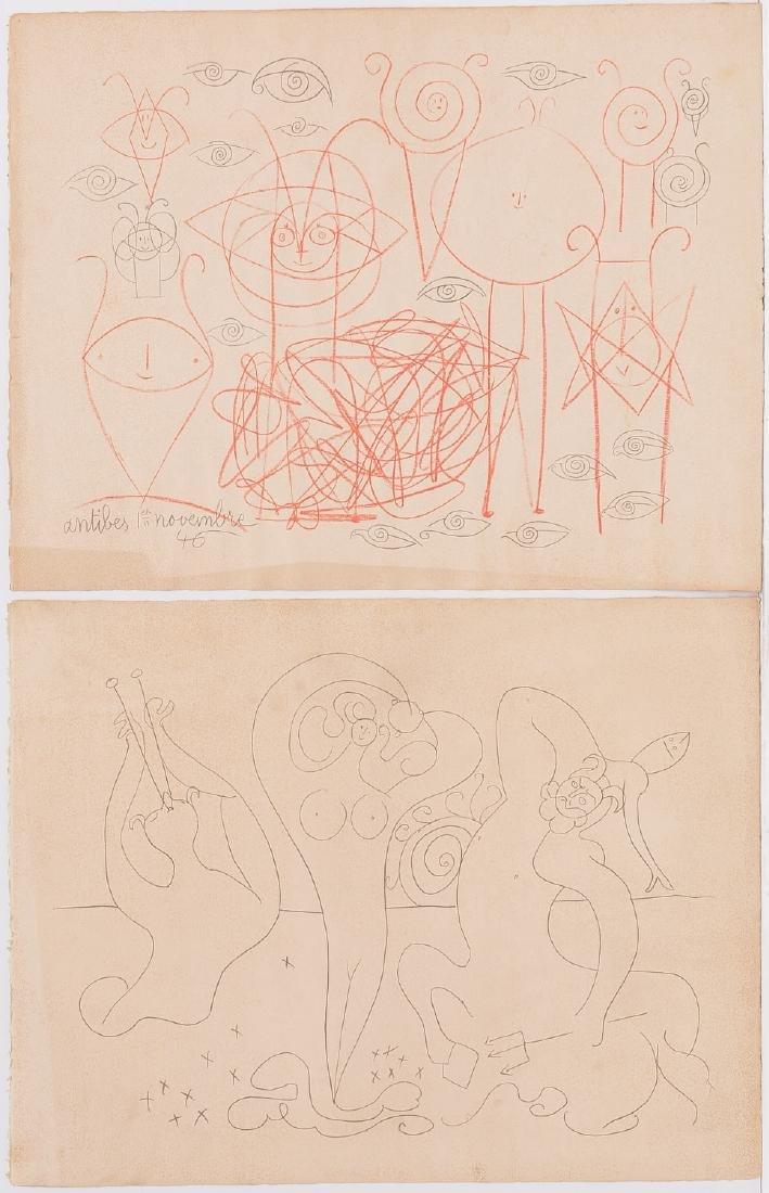 Pablo Picasso, (2) lithographs
