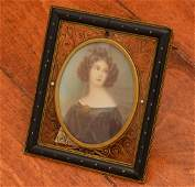 Nicely framed Continental portrait miniature