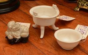 (3) Chinese Dehua, Blanc-de-chine Porcelains