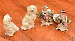 Group 4 antique English porcelains