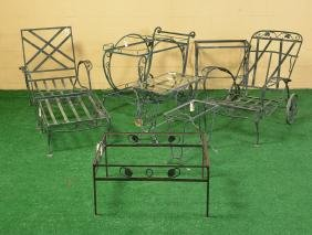 Assembled Wrought Iron Patio Entertaining Group