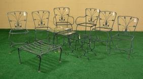 Group Assorted Wrought Iron Patio Furniture