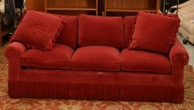 Avery Boardman Red Velvet Sleeper Sofa