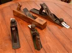 Group (4) antique and vintage jack planes