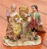 Royal Vienna handpainted porcelain figural group