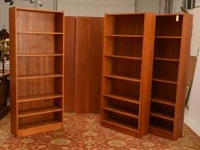 Set (6) Danish Modern Style Teakwood Bookcases