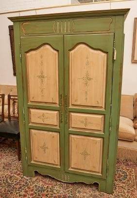 Domain Country French Style Painted Armoire
