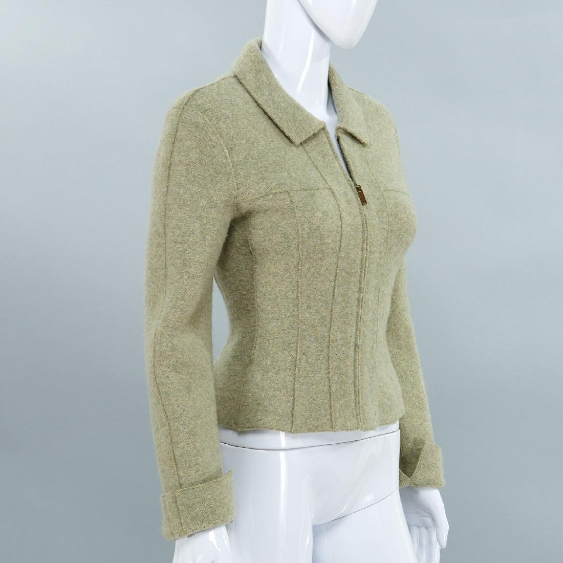 Chanel Identification moss green wool jacket